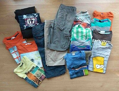 19 Teile Sommer Paket Jungs Marken Tom Tailor H&M SOliver Angry Birds 128 - 140