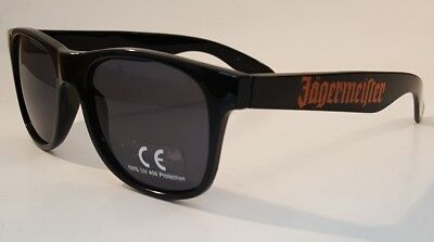 Jagermeister Wayfarer Black Sunglasses 100% UV 400 Protection New Free Shipping