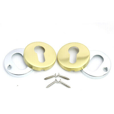 Brushed Satin Escutcheon Plates for Euro Cylinder Profile Key Hole Cover 50mm