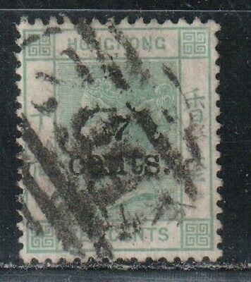 1891 British colony in China stamps, Hong Kong QV 7c on 10c used, SG 43