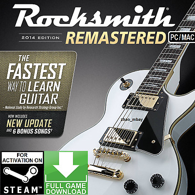 Rocksmith 2014 Remastered Global PC Steam [NO CD/DVD] [NO CABLE] FAST SENT!