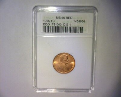 1995 Lincoln Cent Double Die Obverse >Die #1 >Fs-101<>Anacs Ms-66< Us Error Coin