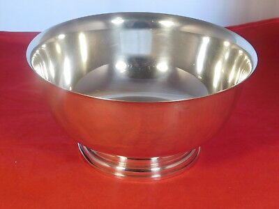 VINTAGE NEWPORT PAUL REVERE STYLE LARGE STERLING SILVER BOWL #131310  28 OZs