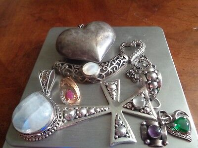 Sterling Silver Scrap or Not Lot of Mixed Beautiful Jewelry Pieces !!!