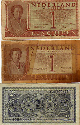 Lot of 6 Netherland Banknotes