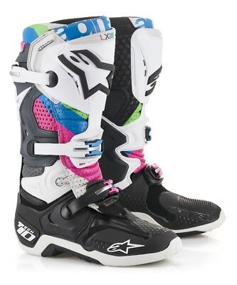 Alpinestar Tech 10 Vision Limited Edition Motocross MX Boots Cool Grey UK7 US8