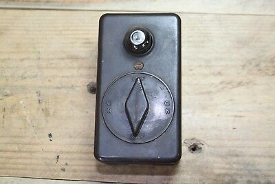 Vintage New Day Bakelite 20a 250v Rotary Switch With Light