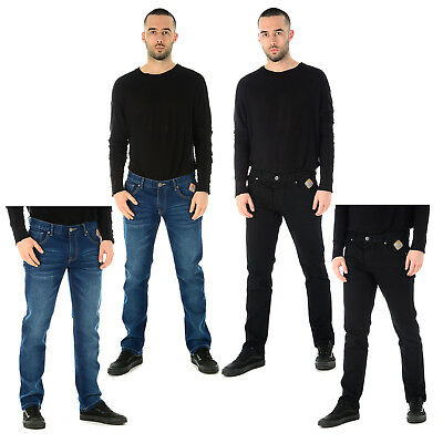 Mens Slim Fit Denim Jeans Boys Skinny Stretch Smart Casual Straight Leg Trousers
