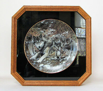 "A Family Affair ""Den Mother"" Framed Bradford Exchange Carl Brenders Wolf Wolves"