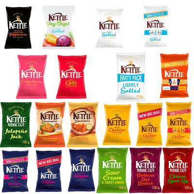 Kettle Chips / Crisps Variety Bags - Different Flavours Available