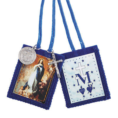 Immaculate Conception Scapular with Medals (D1205) NEW