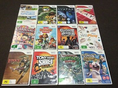 Nintendo Wii Game Bundle x12 Games - Very Good Condition PAL