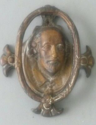 William Shakespeare door knocker from the early 1900s,solid brass.rare find..