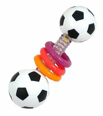 Sassy Babies Sports Rattle ( For Age 3m + ) . Baby Football Styled Rattle Toy