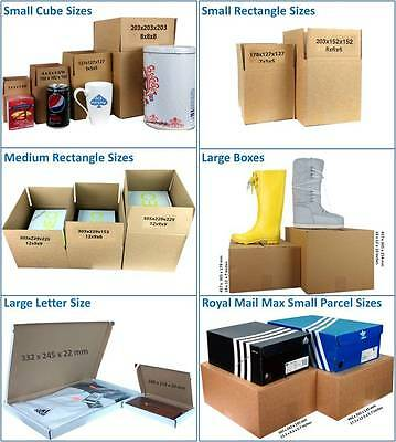Single Wall Cardboard Postal Mailing Boxes & Royal Mail Large Letter Parcels
