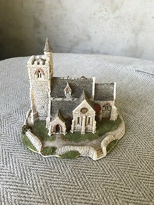 """Lilliput Lane St Lawrence Church Collectible - 5.75"""" Tall Made  in England 1989"""