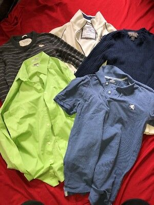 Lot 5 Mens Medium Small Tshirts Sweaters Dress Shirts, Express, Abercrombie, AE