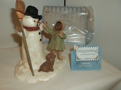 "Miss Martha's Collection ""Amber-Mr. Snowman""  Very Rare and HTF"
