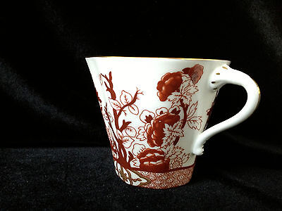 Vintage COALPORT Indian Tree Coral Fine Bone China Gold Rim Cup England