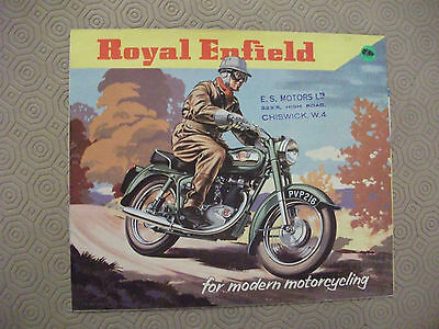 Royal Enfield Sales brochure,1958, original, full range,+ price list,exc' cond'n