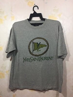 Vtg Yves Saint Laurent Pour Homme Spell Out Big Logo