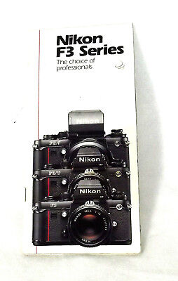 NIKON F3 brochure - 55 pages F3 Information photos  specifications 1986