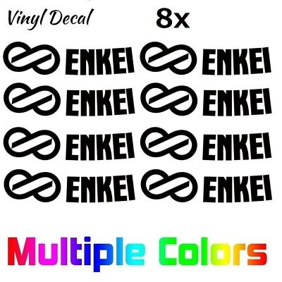 "(8x) Enkei Wheel Decals Logo Die Cut Replacement Stickers RPF1 Rims 15""-18"""