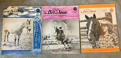 LOT OF THREE BIT And SPUR 1950 HORSE MAGAZINES GRAND CHAMPIONS SEASONS GREETINGS