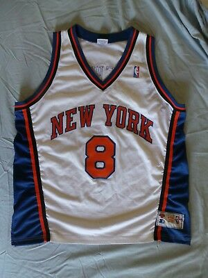 new concept 5f36a 68e85 STARTER NEW YORK Knicks Authentic Latrell Sprewell Jersey Vintage 90s 52  2XL XXL