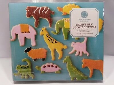 Martha Stewart Collection Set of 6 Large Metal Noah's Ark Animal Cookie Cutters