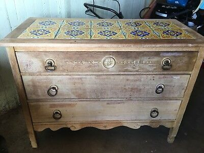 Monterey Tile Top Dresser/ Sideboard Made By Angelus Furniture Co In Los Angeles
