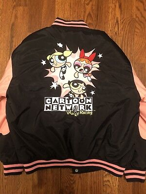 Vintage Powerpuff Girls Jacket Cartoon Network Wacky Racing