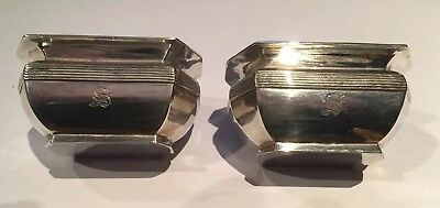 Pair Of Large Solid Silver Salts. Hallmarked 1906