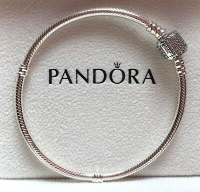 PANDORA Moments Charm Bracelet with Signature Clasp 21cm 590723CZ Genuine New