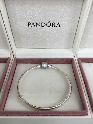 PANDORA Moments New in Box Charm Bracelet with Signature Clasp 19cm 590723CZ