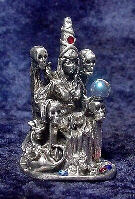Pewter HECATE Goddess of Witches - Crystal Accents