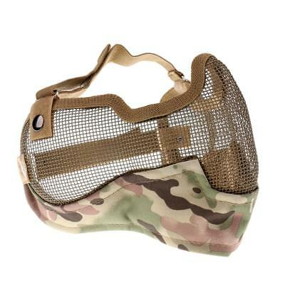 Outdoor Half Face Steel Mesh Mask / Mouth Guard CS Game Military Camo CP