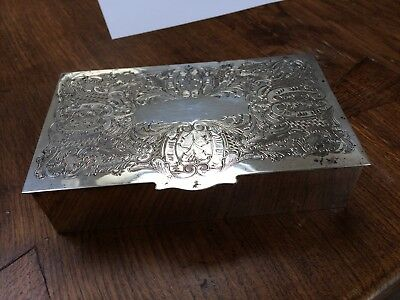 Viners Silver Plate Cigarette Box