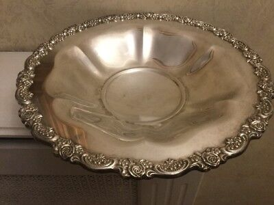 Stunning Vintage Silver Plated Decorative Bowl