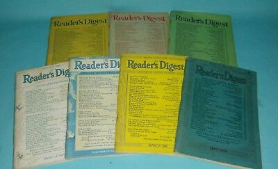 Vintage Readers Digest Magazines Years 1939 1942 1943 1947 January March May WW2