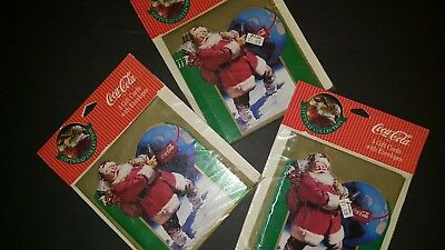 Coca-Cola Christmas Cards With Envelopes Nip 1993 Fast Free Shipping