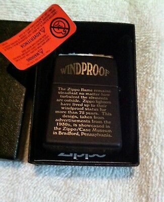 """New Old Stock Rare Double Sided Zippo Lighter Engraved""""windproof""""must See!!!"""