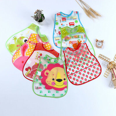 Baby Boy Girl Kids Bibs Waterproof Saliva Towel Cartoon Printed Feeding Bandanas