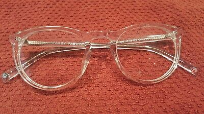 WARBY PARKER Haskell 500 Crystal eyeglass frames  clear 49 22 145 New