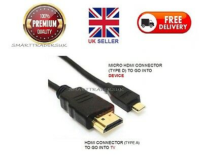 Premium Micro Hdmi To Standard Hdmi Cable Lead For Most Android Phone & Tablet