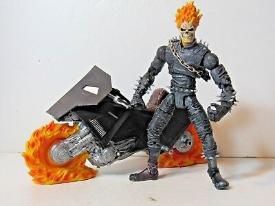 """Marvel Legends Series 1 Ghost Rider 6"""" figure with Motorcycle accessories"""