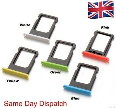 Replacement Nano Sim Card Tray Slot Holder For Apple iPhone 5c -All colour