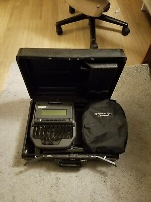Stenograph Stentura 8000 court reporting writer with HARDCASE
