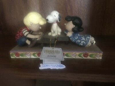 Jim Shore Peanut Gallery Snoopy Carved Shroeder Lucy Piano Snoopy Mint W/tag New