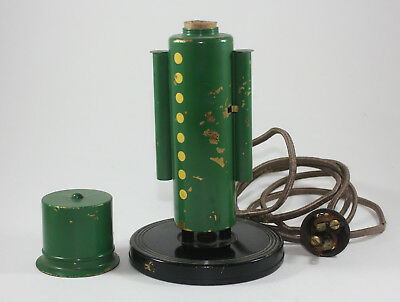 CHASE Colonel Soldier Table LAMP 1930s GREEN & BLACK Lurelle Guild RARE